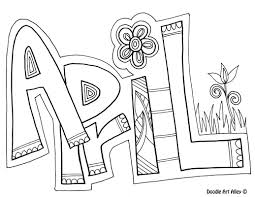 Coloring is a very useful hobby for kids. Months Of The Year Coloring Pages Classroom Doodles
