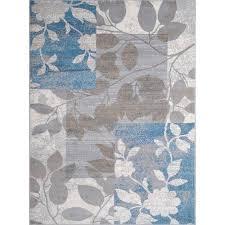 Home Dynamix Tremont Collection HD5282-196 Beige-Blue Modern Floral Area Rug