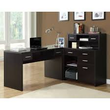 monarch specialties i7018 hollow core l shaped home office desk in cappuccino buy shape home office