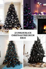 22 Unique Black Christmas Tree Dcor Ideas
