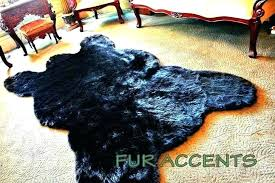 faux white bear skin rug wolf area rugs ideas feels great under your feet with fake