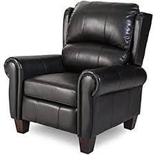 luxury leather recliner chairs. push back style wingback leather recliner for any living room decor. this is made luxury chairs