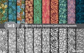 Illustrator Pattern Swatches Classy Waves And Curls Seamless PatternPattern Swatches Included For