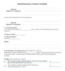 Template Of A Contract Between Two Parties Examples Of Contracts Between Two Businesses Sample Agreement