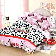 Minnie Mouse Bedroom Set Comforter Kids Leopard Bedding Com Full ...