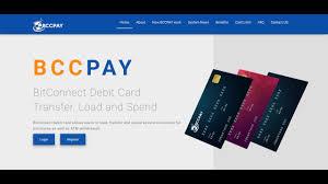 bccpay bitconnect debit card