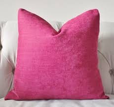 Etsy Throw Pillows Dark Pink Pillow Raspberry Pillow Cover Designer Magenta