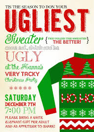 ugly christmas sweater party invitations com ugly christmas sweater party invitations an outstanding color for your example in making your own party invitation cards 8