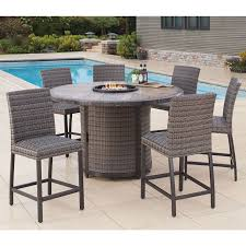 patio furniture sets costco. Agio Eastport 7 Piece Bar Height Fire Chat Set + Cover Patio Furniture Sets Costco H