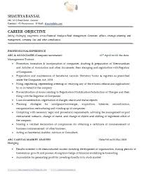 administrative secretary resume sample sample template of an excellent  company secretary resume sample with great job