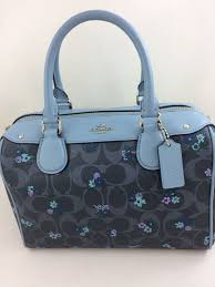 New Authentic Coach F59461 Mini Bennett Satchel Handbag  Shoulder Bag in  Ranch Floral Print Blue Multi
