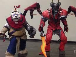 doom and tusk cosplay in brazil dota2