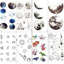 2248 руб 8 скидканебольшой галактика звёзды луна временная татуировка стикеры