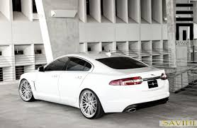 White-Jaguar-XF-Savini-Wheels-BM4-Machined-Silver-  F