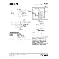 Kohler KG Caxton White Undermount Single Bowl Bathroom - Install bathroom sink