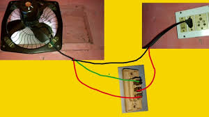 exhaust fan two way switch connection