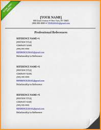How To List References On Cv 10 How To Make A Reference List For A Job Resume Samples