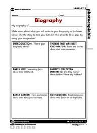how to write a biography for kids template google search  samples of biography essay biography template how to write an artist biography template how