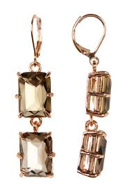 image of vince camuto double emerald cut drop earrings