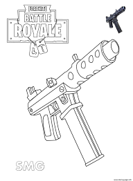Coloring Pages Of Fortnite Guns