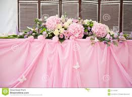 decorations for wedding tables. Pink Wedding Bridal Table Decorations Stock Photo - Image Of Creases, Blossom: 37172782 For Tables