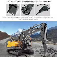 KOWAH <b>E568</b>-001 VOLVO <b>3</b> In <b>1</b> Remote Control Excavator Metal ...