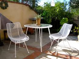 white wrought iron furniture. charming white dining chairs made of iron and matching round table by woodard furniture for patio wrought n