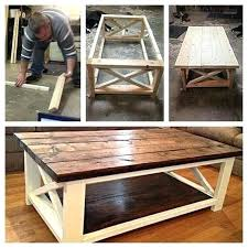 rustic coffee and end tables. Interesting End Farmhouse Coffee And End Tables Rustic Table Built With Stair Tread  Teds Woodworking Beautiful To Rustic Coffee And End Tables E