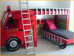 bunk bed with slide.  With Bunk Bed Slide With Fire Engine Hackers Sold Separately With Bunk Bed Slide E