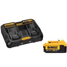 dewalt 20 volt max xr lithium ion premium battery pack 4 0ah and dual