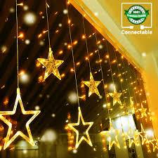 Long Lasting Led Christmas Lights Quntis Led 12 Stars Curtain Lights 138 Leds Window Icicle