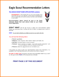 Eagle Scout Recommendation Letter Template Business Template