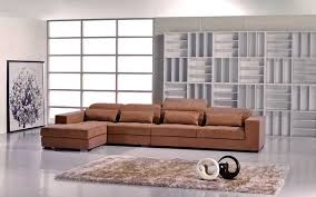 modern sectional sofas microfiber. Plain Modern Contemporary Brown Microfiber Sectional Sofa With Modern Sofas R
