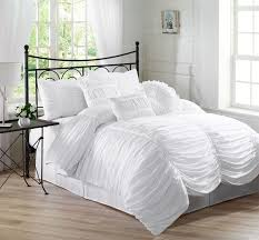 white full size comforter sets chezmoi collection 7 piece chic ruched comforter set review