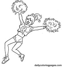 Small Picture 20 best cheerleading coloring pages images on Pinterest Adult