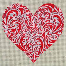 Scroll Heart Red Scroll Heart