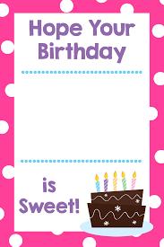 gift card birthday cute birthday gift template happy birthday gift card medium size