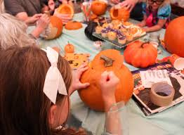 pumpkin carving tools for kids. the kids picked up on how to create their masterpiece pumpkins very easily. for those who wanted freestyle designs, bistro chalk marker in pumpkin carving tools