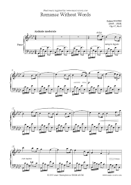 music notes in words op 17 no 3 romance without words piano sheet music notes