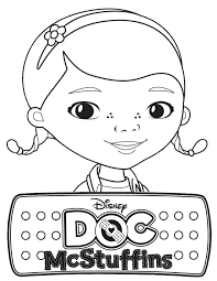 Doc Mcstuffins Coloring Pages Doc Mcstuffins Party Pinterest