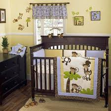 Monkey Bedroom Decorations Bedroom Wide Solid Teak Crib And Monkey Bedding Inside Spacious