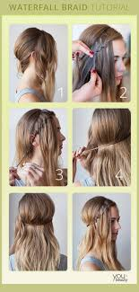 waterfall braid elegant easy and perfect hairstyle