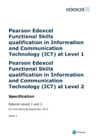 skills and qualifications functional skills ict edexcel functional skills in ict pearson