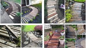 great rustic diy garden pathways from