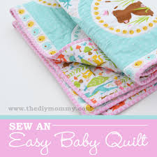 Sew an Easy Beginner's Baby Quilt | The DIY Mommy & Sew an Easy Beginner's Baby Quilt by The DIY Mommy Adamdwight.com