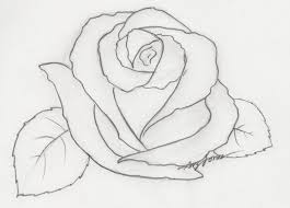 Small Picture Easy Rose Drawings In Pencil Drawing Sketch Library