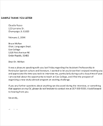 thank you letter after application 9 sample formal thank you letter free sample example format