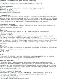 Resume Personal Trainer Beginner Personal Trainer Resume Sample ...