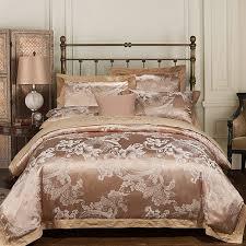 luxury bedding sets embroidered wedding duvet cover set jacquard bedspreads satin sheets bed in a bag