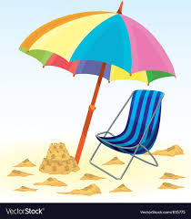beach umbrella and chair. Fine And Beach Umbrella Chair Vector Image In Umbrella And Chair E